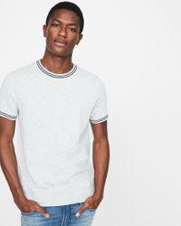 Express Big & Tall Slub Tipped Crew Neck T-shirt Gray for men