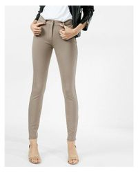 Express Natural Mid Rise Stretch+ Performance Twill Leggings