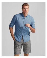 Express - Blue Slim Soft Wash Garment Dyed Oxford Shirt for Men - Lyst