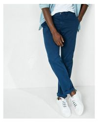 Express Blue Classic Fit Stretch Garment Dyed Chino for men