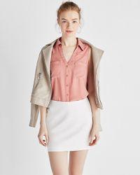 Express Slim Fit Sleeveless Portofino Shirt Pink