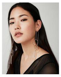 Express - Metallic Eometric Drop Earrings - Lyst