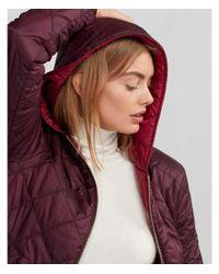 Express Pink Reversible Puffer Jacket