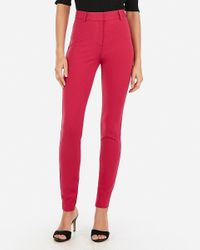 Express High Waisted Skinny Pant Pink