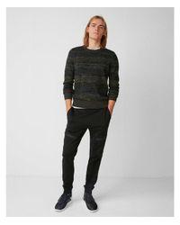 Express - Green Marl Stripe Crew Neck Sweater for Men - Lyst