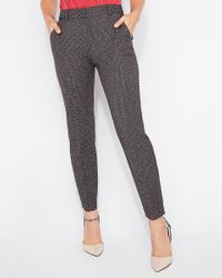 Express Gray Mid Rise Tweed Ankle Columnist Pant Multi
