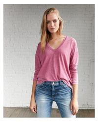 Express - Pink Burnout Oversized Tunic Tee - Lyst
