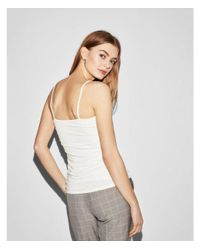 Express White Ruched Cami
