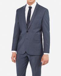 Express Extra Slim Blue Performance Stretch Wool-blend Suit Jacket Blue 36 Short for men