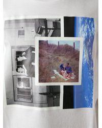 Raf Simons White Photo Print T-Shirt for men