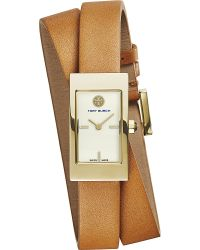 Tory Burch | Brown Trb2007 The Buddy Signature Double-wrapped Watch | Lyst