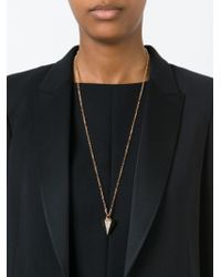 Vita Fede | Metallic Mini 'thea Crystal' Necklace | Lyst