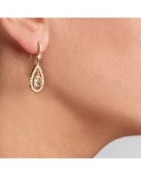 Carolee - Metallic Gold Tone Glass Tear Drop Earrings - Lyst