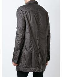 DRKSHDW by Rick Owens - Gray Padded Shirt Jacket for Men - Lyst