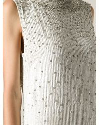 Jenny Packham - White Embroidered Backless Long Dress - Lyst