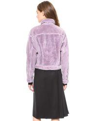 3.1 Phillip Lim Purple Shearling Jean Jacket Pale Lilac