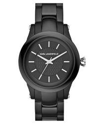 Karl Lagerfeld | Black 'slim Chain' Bracelet Watch | Lyst