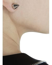 Givenchy | Metallic Silver Tone Crystal Cone Earrings | Lyst