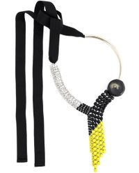 Marni | Black Crystal Waterfall Necklace | Lyst