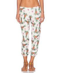 All Things Fabulous - Green Pineapple-Print Cotton-Blend Sweatpants - Lyst