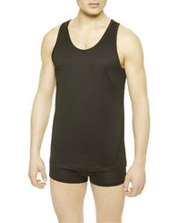 La Perla | Black Tank Top for Men | Lyst