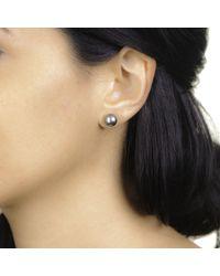 Black.co.uk Titania Tahitian Black Pearl Ear Studs