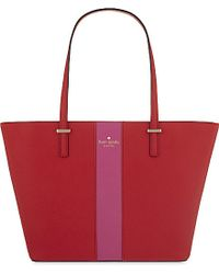Kate Spade | Red Harmony Small Leather Tote, Women's, Cherry Liquer | Lyst