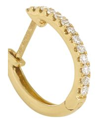 Anita Ko | Metallic Huggy 18-karat Gold Diamond Earrings | Lyst