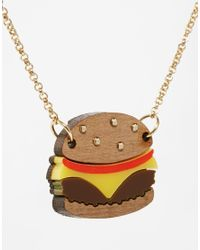 Tatty Devine | Metallic Cheeseburger Necklace | Lyst