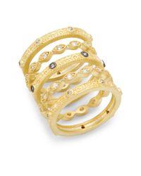 Freida Rothman | Metallic Byzantine Ring Set | Lyst