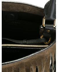 Burberry Prorsum - Black House Check Fringed Bucket Tote - Lyst