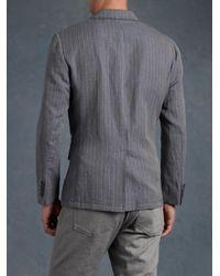 John Varvatos - Gray Wire Detail Jacket for Men - Lyst