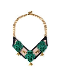 Lulu Frost | Green Katharine Bib Necklace | Lyst