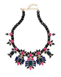 Kenneth Jay Lane | Multicolor Clustered Gemstone Bib Necklace | Lyst