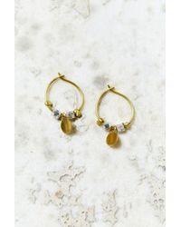 Urban Outfitters | Metallic Charmed Petite Hoop Earring | Lyst