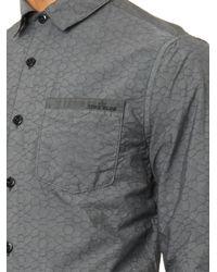 Stone Island Gray Cracked-Stone-Effect Shirt for men