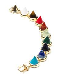Eddie Borgo - Multicolor Multi-Stone Cone Bracelet - Lyst