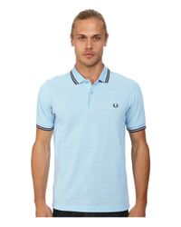 Fred Perry | Blue Slim Fit Twin Tipped Polo for Men | Lyst