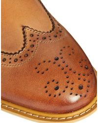 ASOS | Brown Brogue Boots in Leather for Men | Lyst