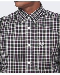 Fred Perry | Red Herringbone Check Shirt for Men | Lyst