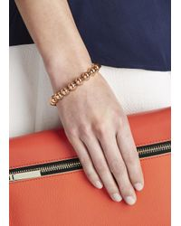 Eddie Borgo | Pink Large Dome Rose Gold Plated Bracelet | Lyst