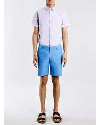 TOPMAN | Purple Short Sleeve Smart Shirt for Men | Lyst