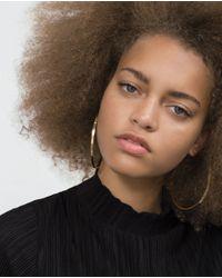 Zara   Metallic Large Hoop Earrings   Lyst