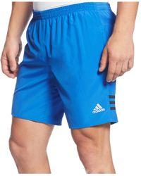 """Adidas Blue Men's 7"""" Running Shorts for men"""