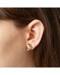 Odette New York | Metallic Stepped Earrings | Lyst