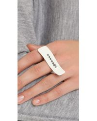 Maison Margiela - White Ring - Lyst