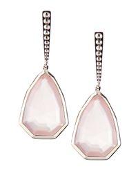 Stephen Dweck | Pink Small Rose Quartz Drop Earrings | Lyst