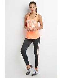 Forever 21 | Pink Active Finish Line Graphic Tank | Lyst