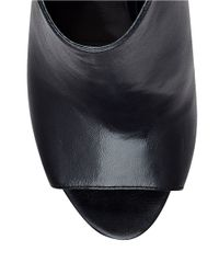 Guess | Black Adara Leather Peep Toe Ankle Boots | Lyst