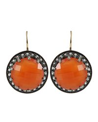 Andrea Fohrman | Metallic Carnelian Faceted Sapphire Earrings | Lyst